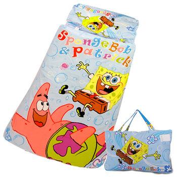 海綿寶寶俏皮寶寶幼教兒童睡袋(4*5尺-藍)