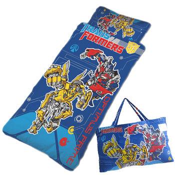 變形金剛~勇氣篇-幼教兒童睡袋(4*5尺-藍)
