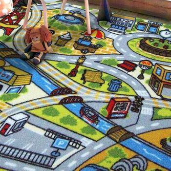 范登伯格 兒童成長學習遊戲毯-暢遊街道-100x130cm
