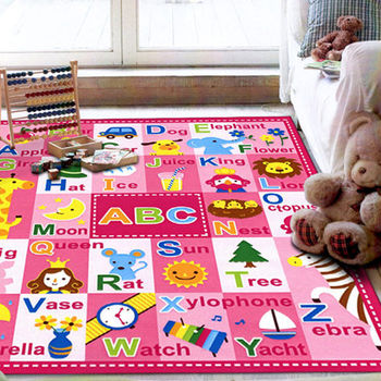 范登伯格 兒童英語學習遊戲毯-ABC(兩色可選)-100x130cm
