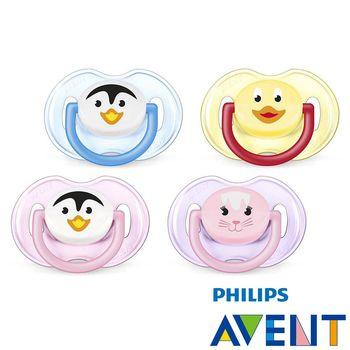 PHILIPS AVENT矽膠安撫奶嘴-卡通系列0-6M(二入圖案隨機)