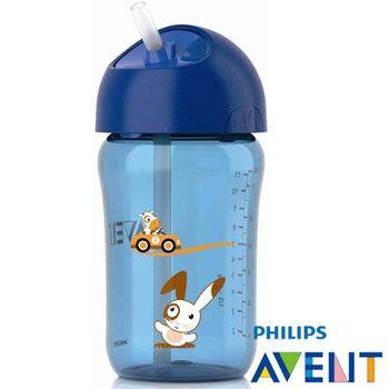 任-PHILIPS AVENT QQ兔吸管水杯(藍色340ml)18M+