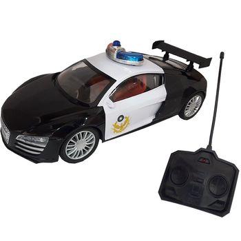 霹靂炫光遙控 黑白雙色警察巡邏車