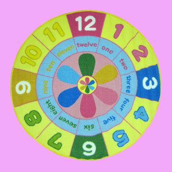 范登伯格 兒童成長學習遊戲毯-叮噹鐘-100cm圓
