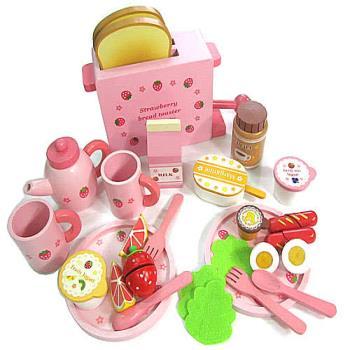 吐司麵包木製玩具組◎附木製麵包機一台(可活動)