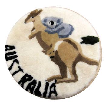范登伯格 超柔軟羊毛圓形坐墊-袋鼠-50x50cm