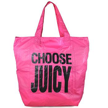 JUICY COUTURE 亮粉色CHOOSE JUICY購物托特包