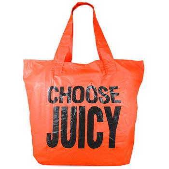JUICY COUTURE 亮橘色CHOOSE JUICY購物托特包