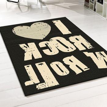 范登伯格 爵士南洋編織風類亞麻地毯-搖滾-140x200cm