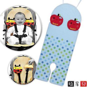 [會呼吸]推車/汽座通用透氣墊-蘋果