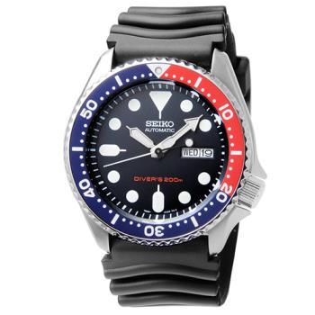 SEIKO精工5號DIVERS 機械膠帶錶-黑 / SKX009K1