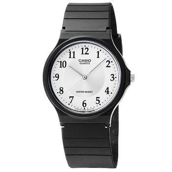 CASIO 日系卡西歐薄型石英錶-銀 / MQ-24-7B3