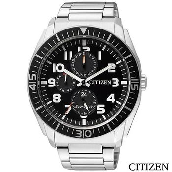 【CITIZEN 星辰】Eco-Drive時尚日曆腕錶AP4010-54E