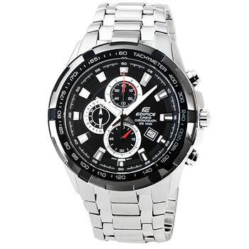 CASIO 卡西歐EDIFICE大錶徑三眼計時錶-黑 / EF-539D-1A
