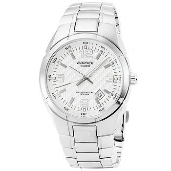 CASIO 卡西歐EDIFICE 大錶徑時尚錶-白 / EF-125D-7A