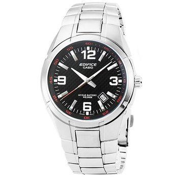 CASIO 卡西歐EDIFICE 大錶徑時尚錶-黑 / EF-125D-1A