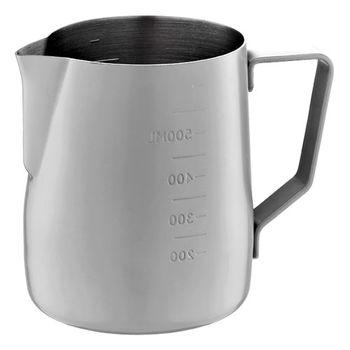 Tiamo 不沾塗層厚款刻度指示拉花杯600ml-HC7087GR