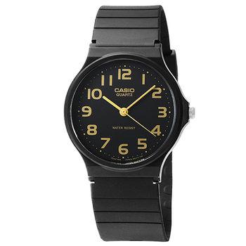 CASIO 卡西歐薄型石英錶-黑 / MQ-24-1B2