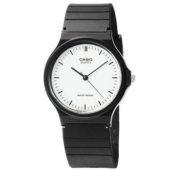 CASIO 卡西歐薄型石英錶-白 / MQ-24-7E