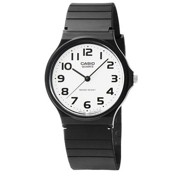 CASIO 卡西歐薄型石英錶-白 / MQ-24-7B2