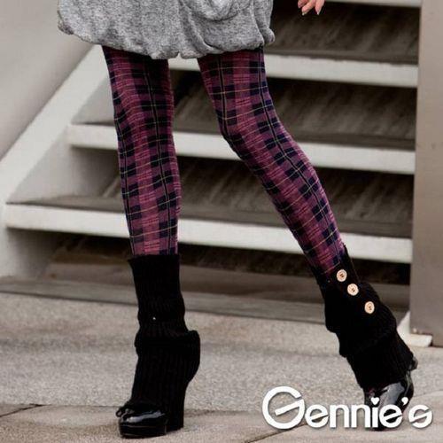 買一送一【Gennie's奇妮】時尚彈性厚棉孕婦褲襪(GM71)