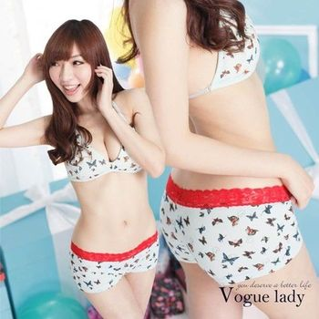 【Vogue Lady】蕾絲平口蝴蝶系列(紅蕾絲)
