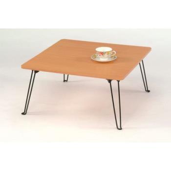多功能原木和室折疊桌(方)
