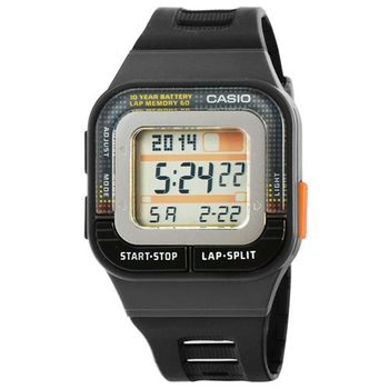 CASIO 卡西歐多時區鬧鈴慢跑電子錶-黑 / SDB-100-1A