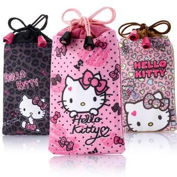 Hello Kitty超細纖維拭鏡布手機袋(2入)-大