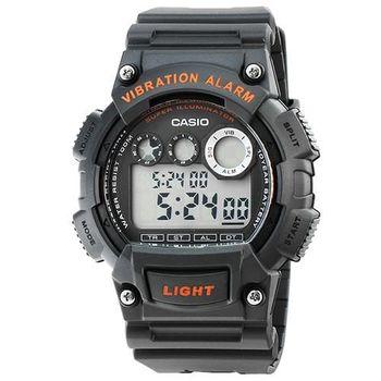 CASIO 卡西歐軍用野戰電子錶-深灰 / W-735H-8A