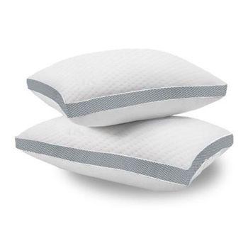 LooCa時尚獨立筒全透氣式枕組