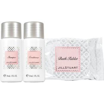 JILL STUART 純白花漾洗潤髮泡澡3件組