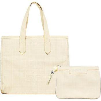 GIVENCHY 紀梵希 粉色雅緻手提包+粉色亮麗化妝包