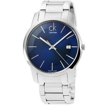 CK Calvin Klein Herrenuhr 時尚大錶徑男錶-炫藍 / K2G2G14N