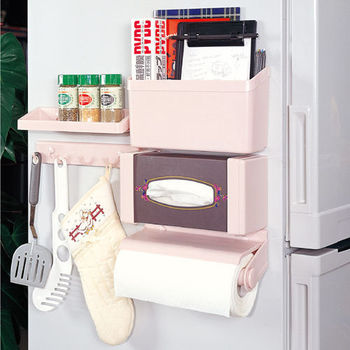 5合1廚房置物架 收納架 置物架 整理架 磁鐵收納架