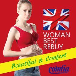 JML英國熱銷COMFIA康裴亞輕感美胸無痕(縫)內衣紅色C101東森購物台電話-RD