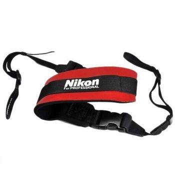 Nikon 原廠相機 減壓肩背帶 公司貨 紅色/黑色