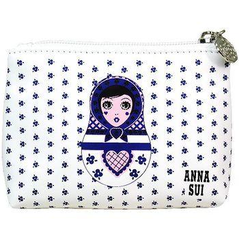ANNA SUI 安娜蘇 Dolly洋娃娃零錢包(藍)