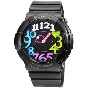 CASIO卡西歐Baby-G 鬧鈴雙顯錶-黑彩 / BGA-131-1B2