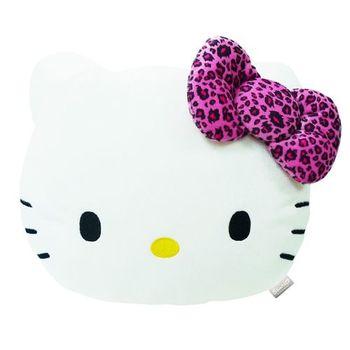 【享夢城堡】HELLO KITTY 豹紋系列-頭型抱枕