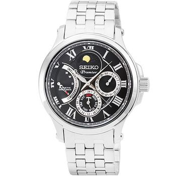SEIKO精工Premier人動電能月相鋼帶錶 / SRX005P1 5D88-0AA0D