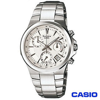【CASIO卡西歐】SHEEN系列三針三眼設計氣質款錶(SHE-5019D-7A)