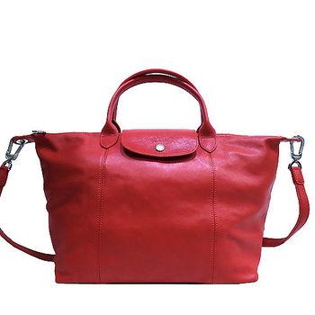 LONGCHAMP小羊皮摺疊兩用托特包-M1515(紅色)