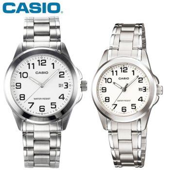 【CASIO卡西歐】經典精鋼指針對錶