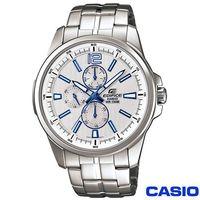 CASIO卡西歐 EDIFICE系列落直紋三環鋼帶腕錶 EF ^#45 343D ^#45