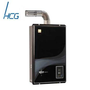 【和成】GH596BQ屋內強制排氣智慧型恆溫熱水器16L(黑色)