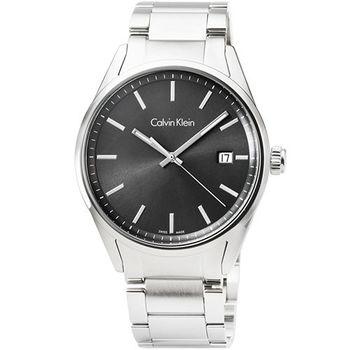 CK Calvin Klein Mens Formality 凱文克萊大錶徑鋼帶男錶-黑面 / K4M21143