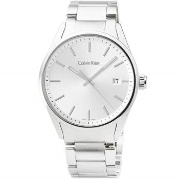 CK Calvin Klein Mens Formality 凱文克萊大錶徑鋼帶男錶-銀面 / K4M21146