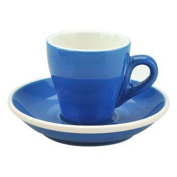 TIAMO 17號鬱金香濃縮杯盤組(雙色) 5客 90cc 藍-HG0850B