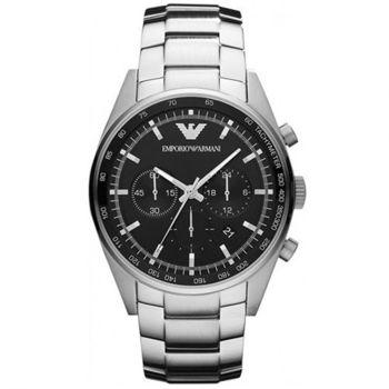 【ARMANI】酷炫商務品味鋼帶腕錶 AR5980